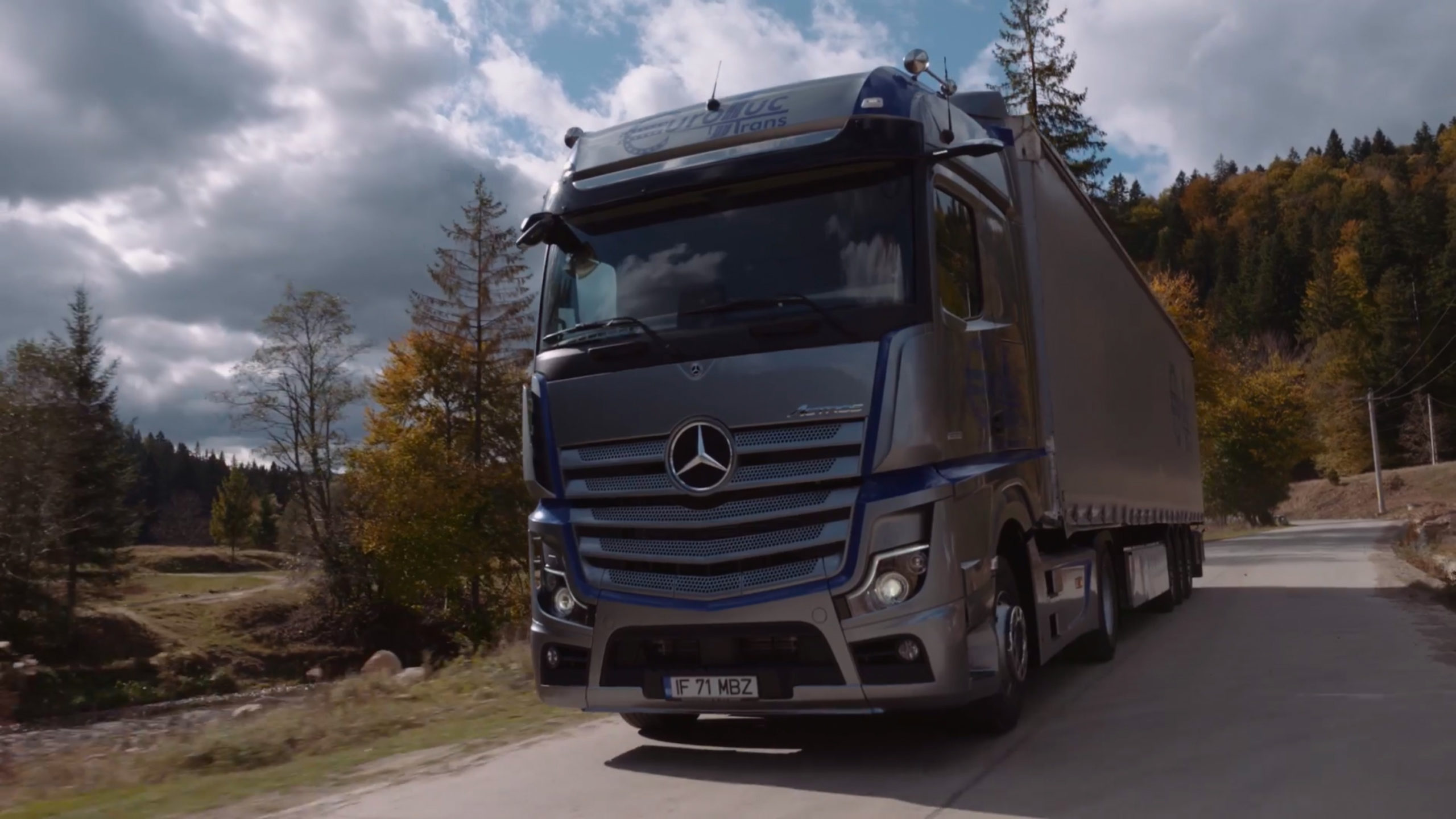 regie si productie video corporate campanie flota camioane euroluctrans Mercedes Trucks