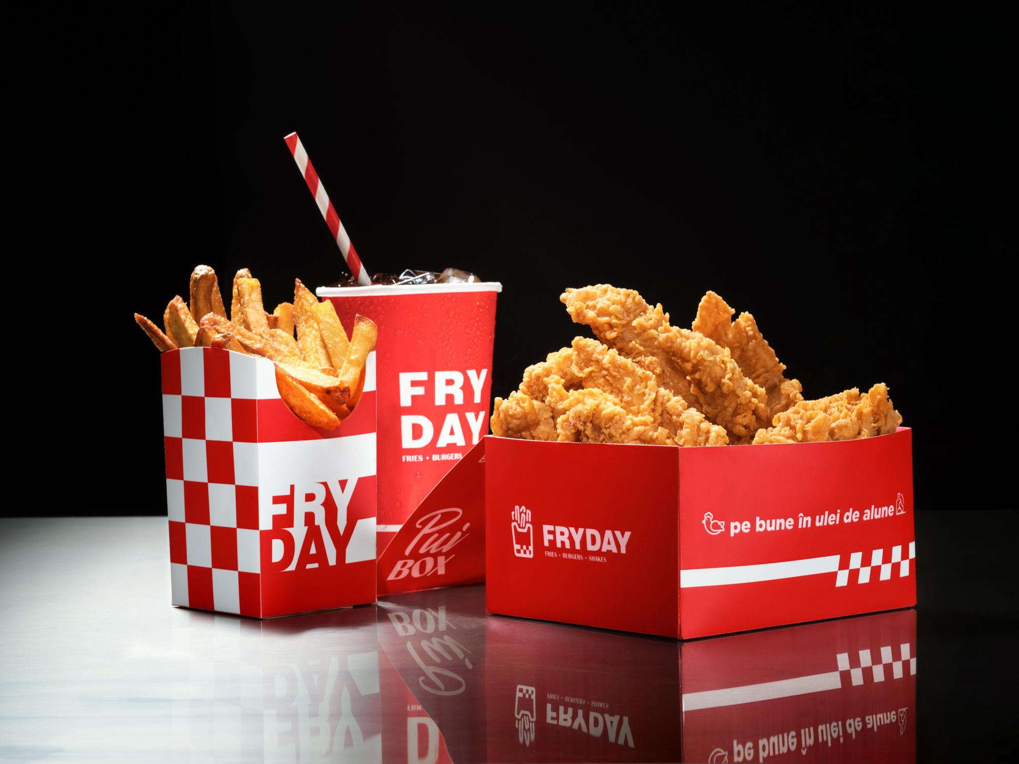 productie fotografie produs Fryday fotograf Bogdan Botofei meniu fast food burger